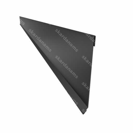 Rake edge type 2. Wind plank roofing sheet metal component.
