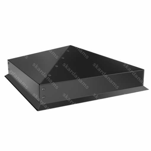 Sheet metal facade cap