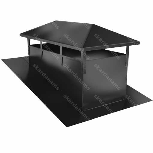 Chimney cap type 1 from stainless steel sheets.