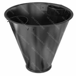 Tin, metal trash can